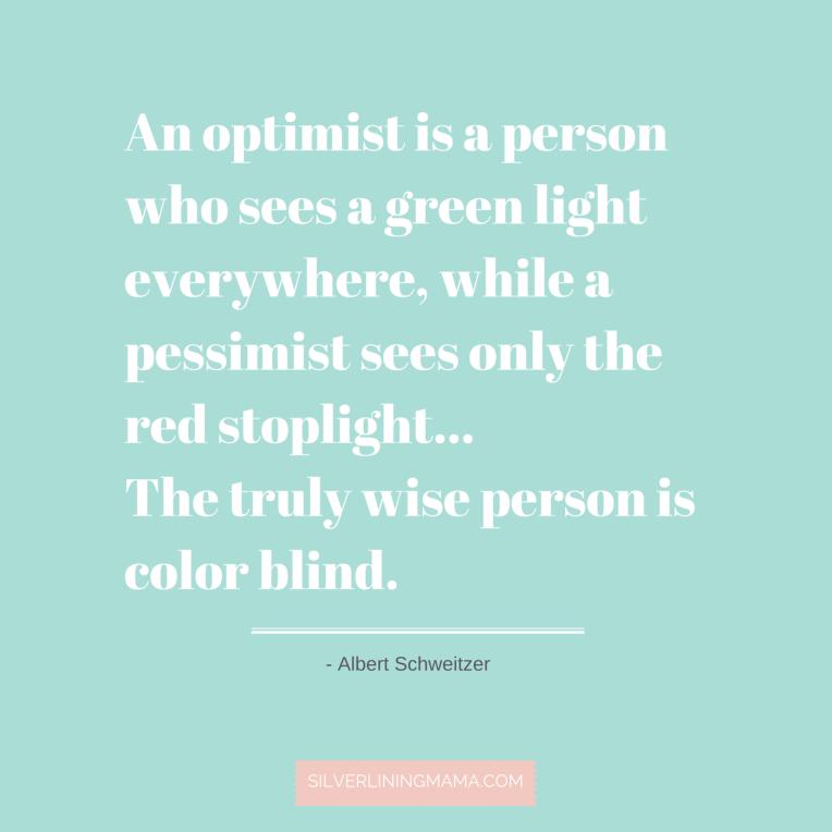 Optimist Sees Green